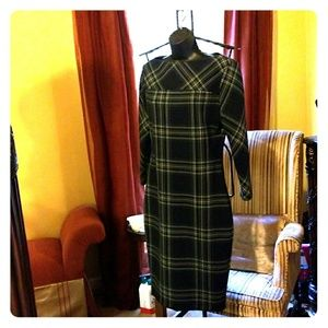 ZARA WOMAN PLAID FORM FITTING DRESS